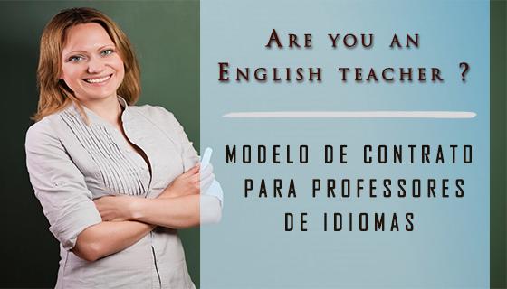 Modelo de Contrato para professores de inglês